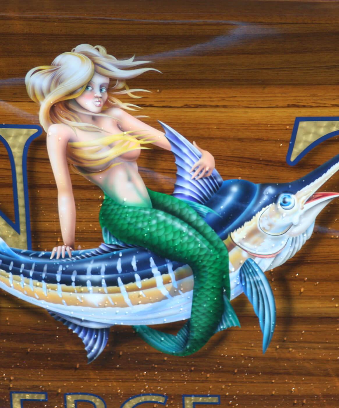 Chasin Tail Ft Pierce Florida Boat Transom