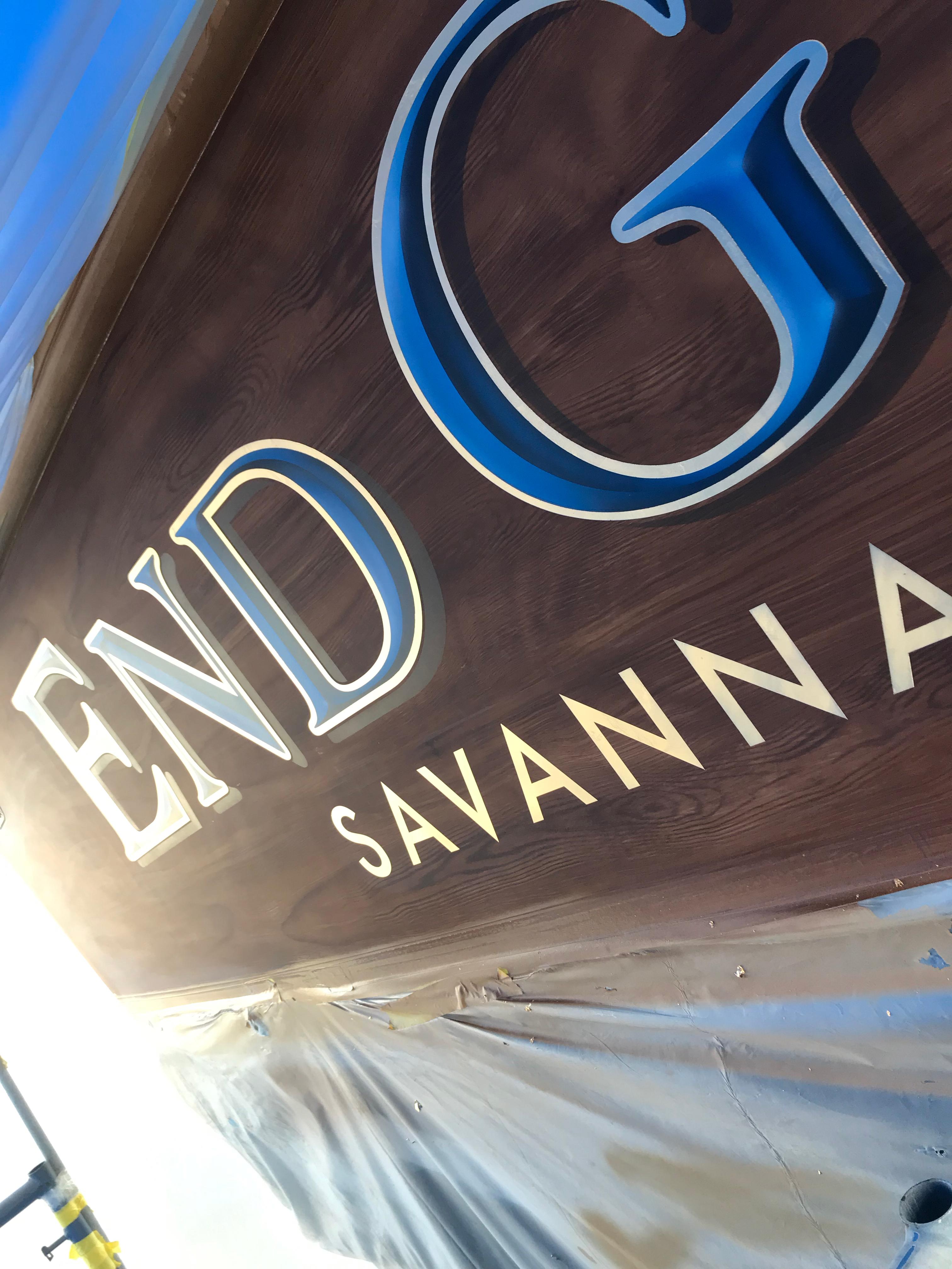 End Game Savannah Georgia Boat Transom