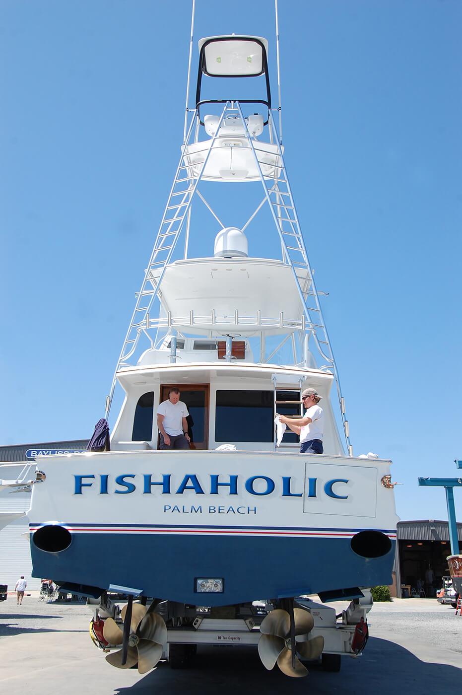 Fishaholic Palm Beach Florida Boat Transom