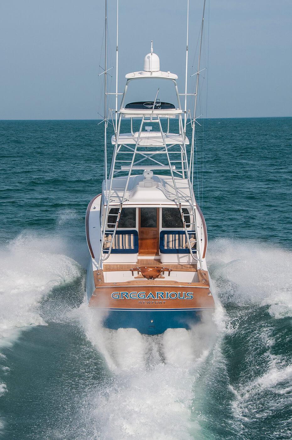 Gregarious Newport Rhode Island Boat Transom