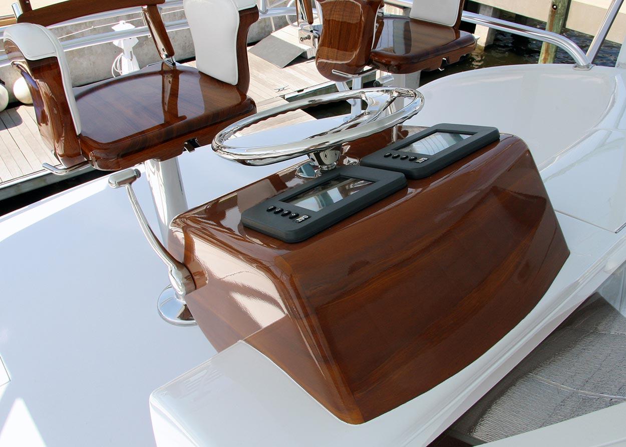 Billfisher Palm Beach Florida Faux Teak wood grain pod yachts