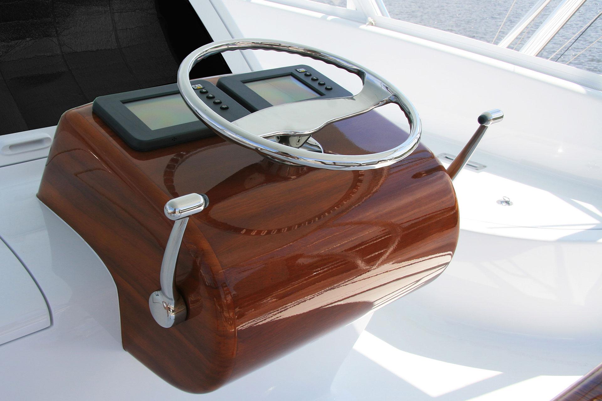 Billfisher Palm Beach Florida Faux Teak wooden helm console