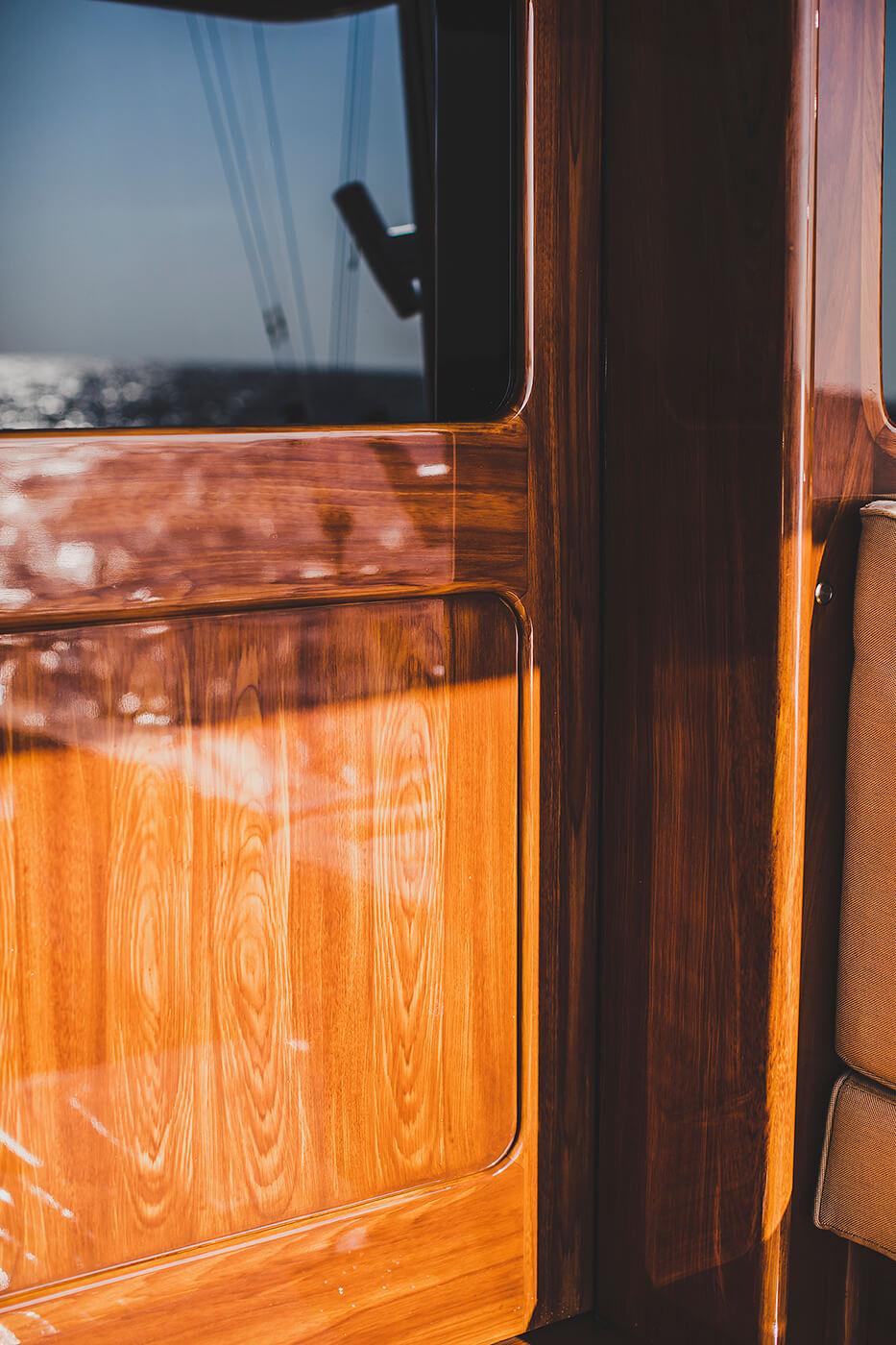 Blue Eagle Houston Texas Faux Teak door and jam wooden grain