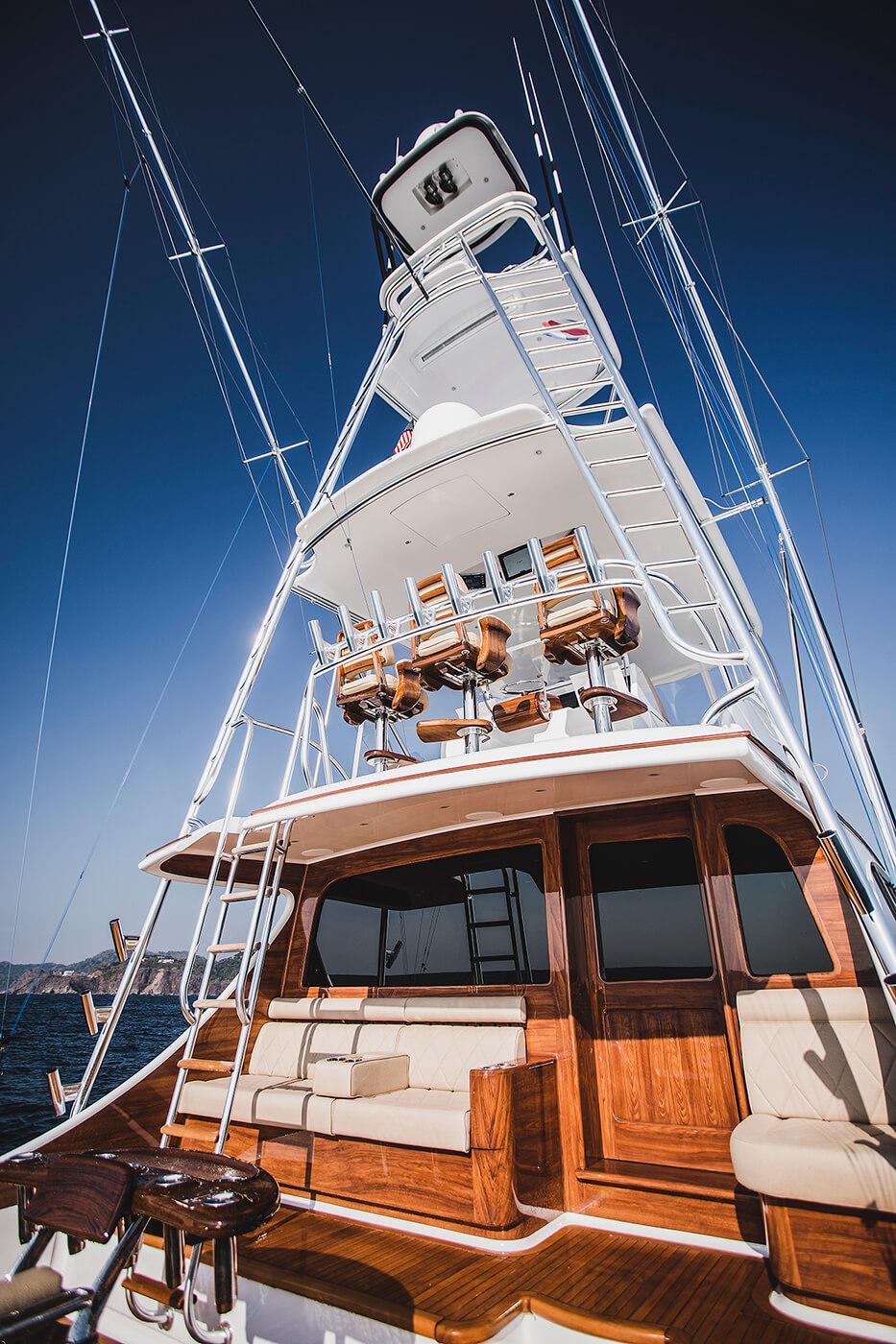 Blue Eagle Houston Texas Faux Teak helm pod bulkhead mezzanine planks wooden