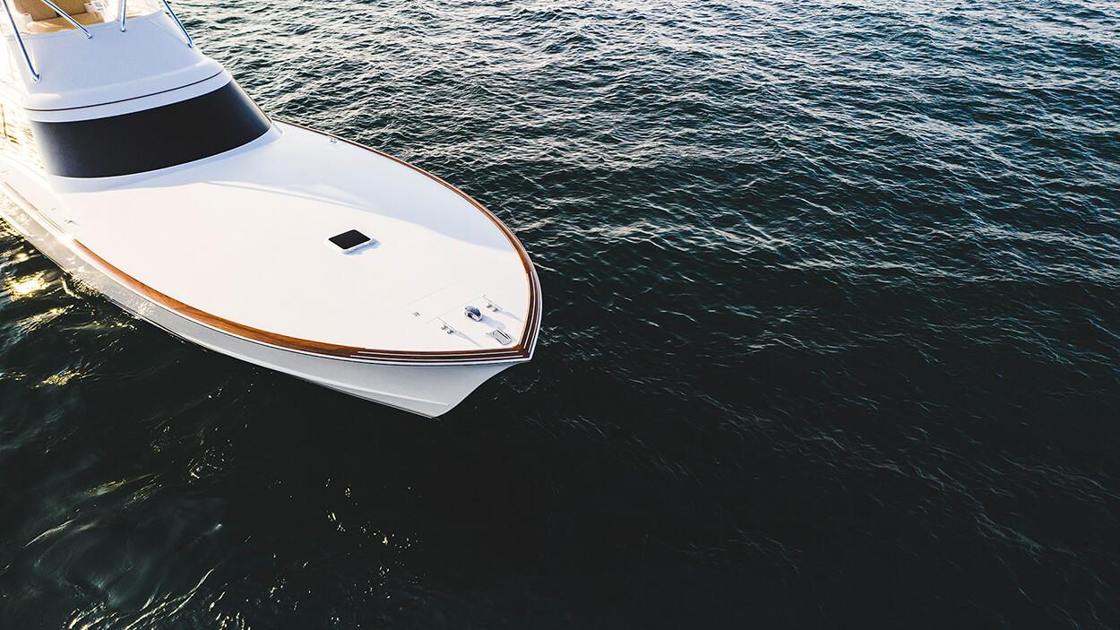 Blue Eagle Houston Texas Faux Teak vessel in water toe rail