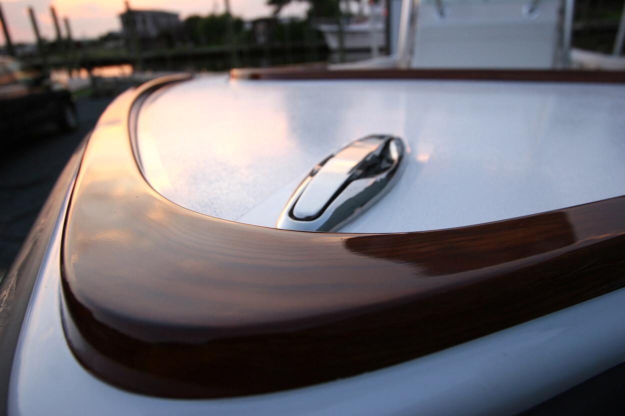 Center console Virginia Beach Virginia Faux Teak bow detail wood grain
