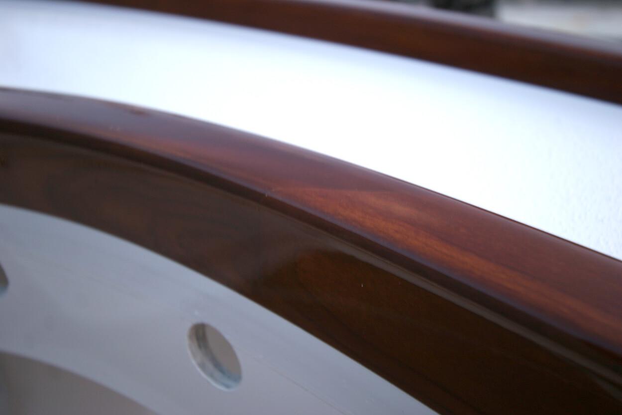 Center console Virginia Beach Virginia Faux Teak coaming detail wood