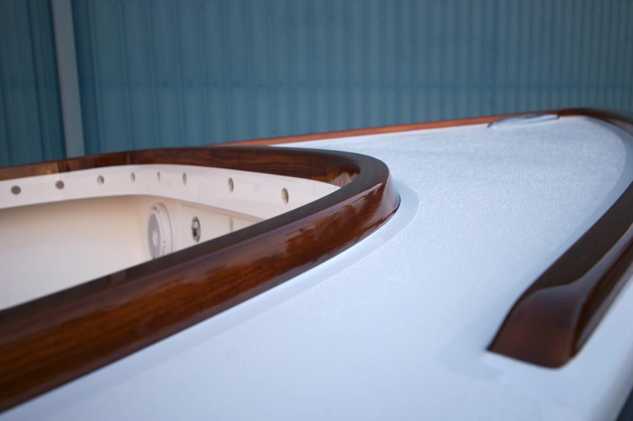 Center console Virginia Beach Virginia Faux Teak coaming vessel