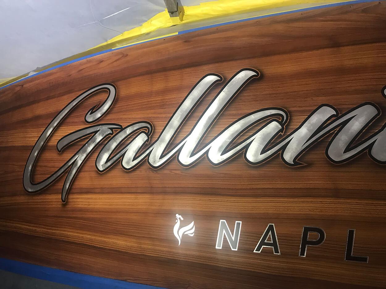 Gallant Lady Naples Florida Faux Teak wood fake sportfishing wood