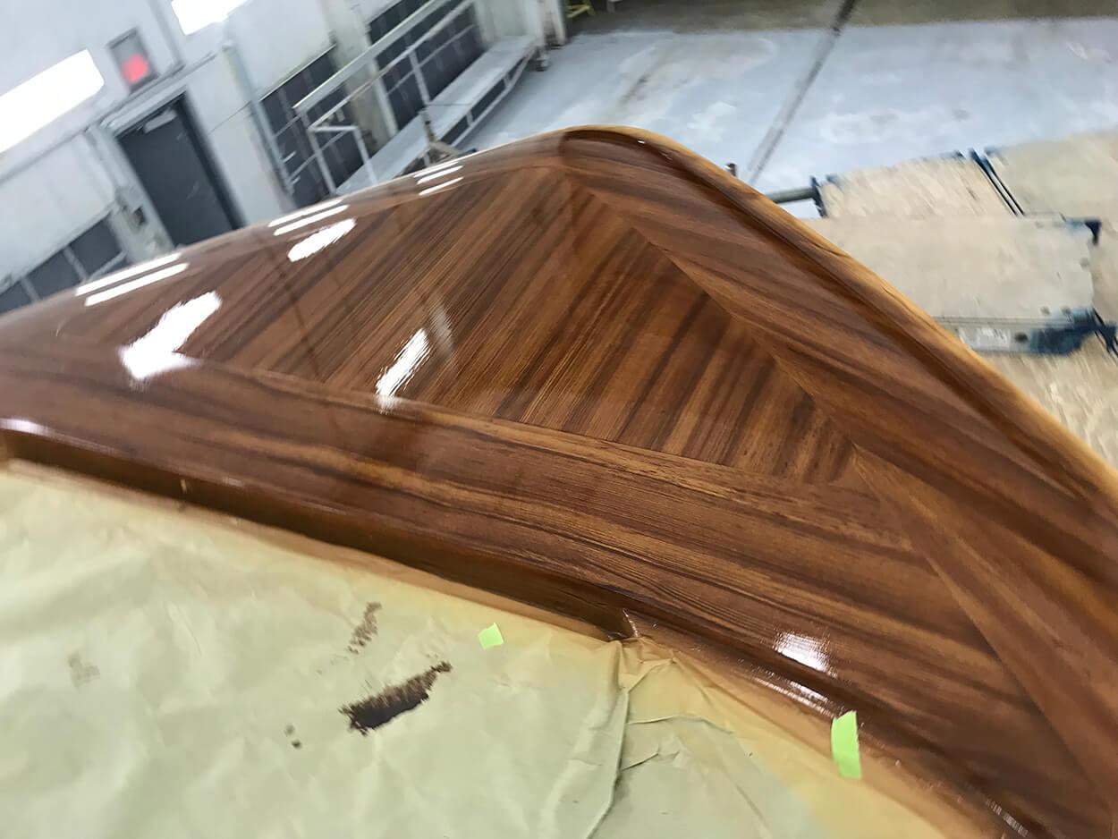 Hatteras Yachts GT65 Faux Teak bow toe rail