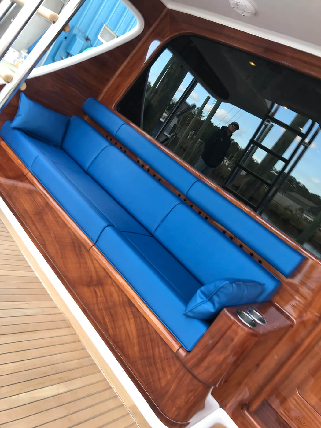 Irish Rover Jupiter Florida Faux Teak mezzanine bulkhead sportfishing vessel