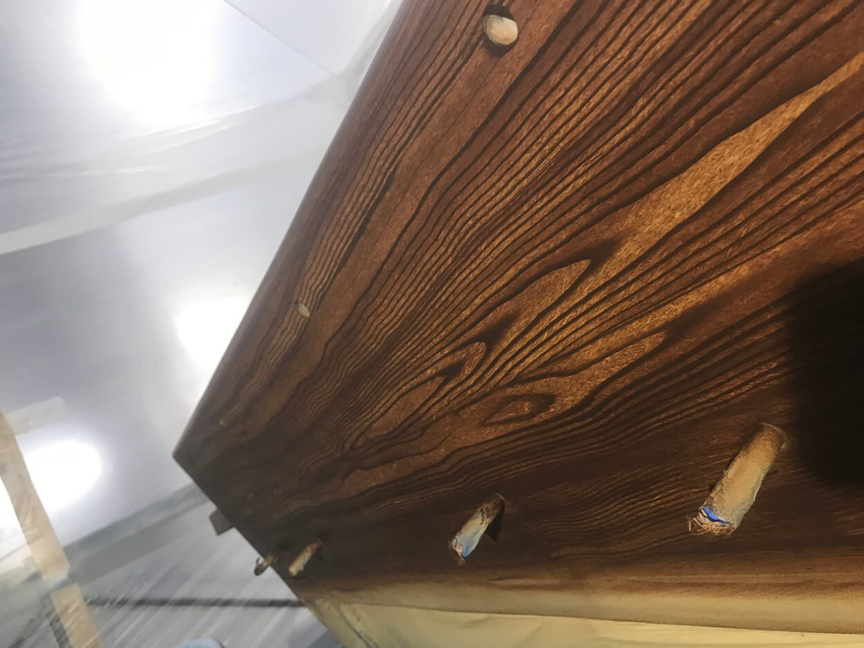 O'hottie Tampa Florida Outboard Faux Teak wooden grain detail