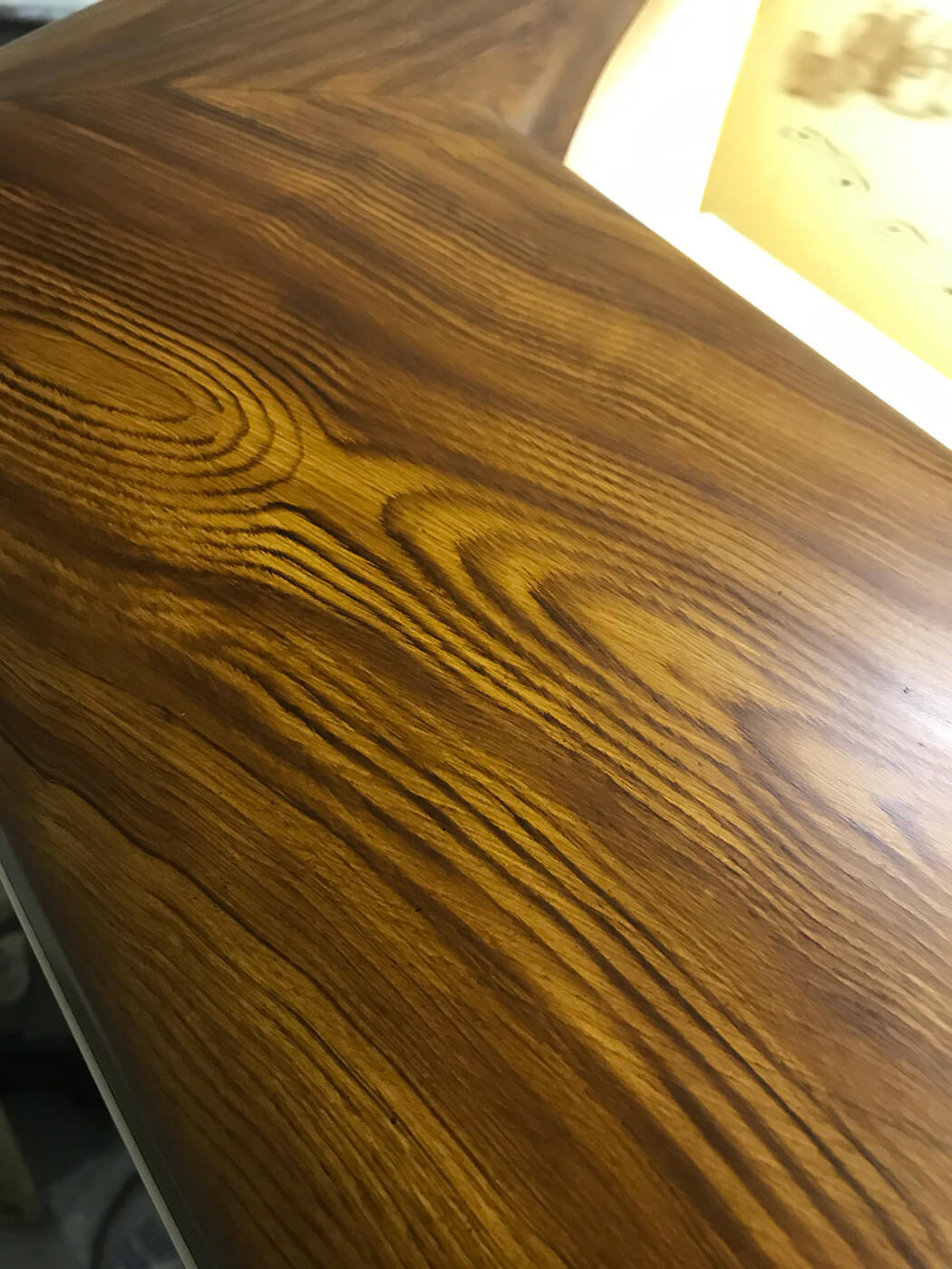 Shearline Boatworks Morehead City North Carolina Faux Teak toe rail wood grain boat detail