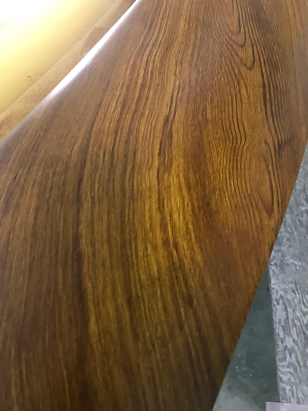 Shearline Boatworks Morehead City North Carolina Faux Teak wood pattern detail grain vessel