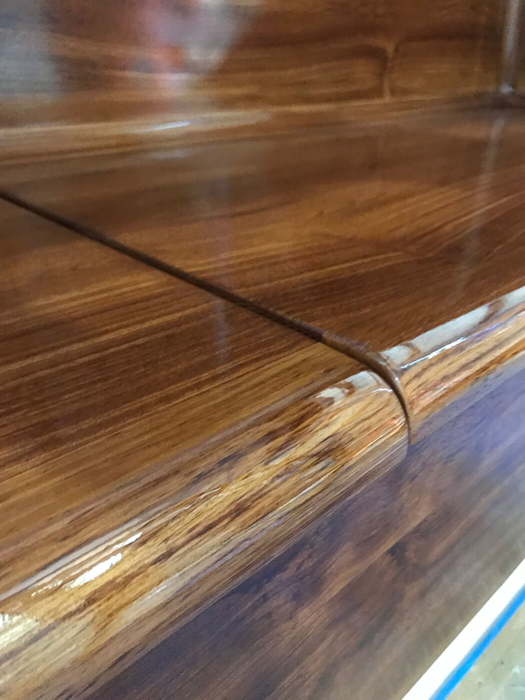 Smooth Move New Orleans Faux Teak bullnose bulkhead wood