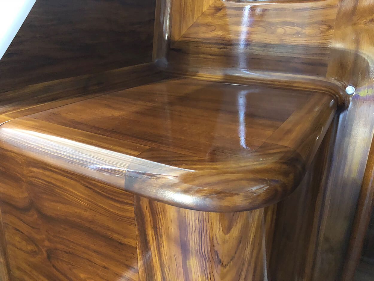 Smooth Move New Orleans Faux Teak cabinet wooden bullnose detail