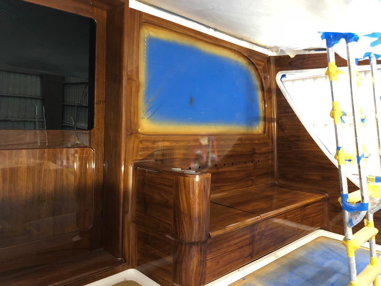 Smooth Move New Orleans Faux Teak full bulkhead mezzanine wood
