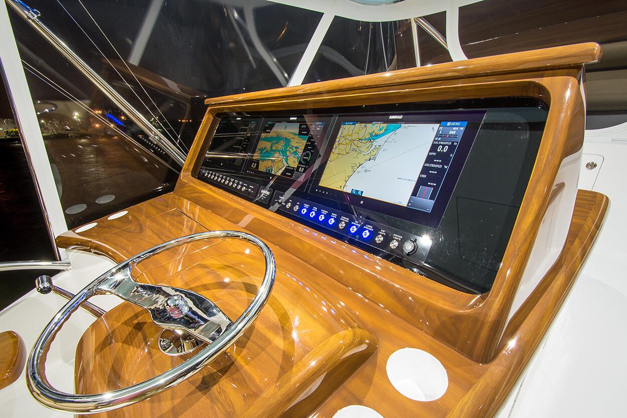 Wolverine Atlantic Beach North Carolina Faux Teak detail of console helm pod carolina flare