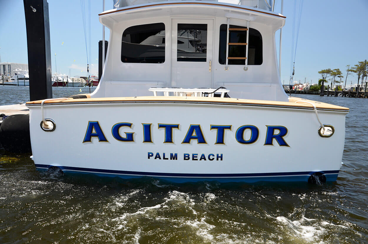 Agitator Palm Beach Florida Boat Transom