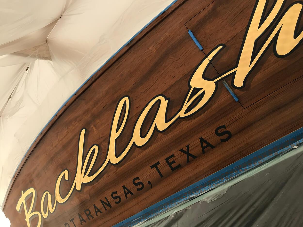 Backlash Port Aransas Texas Boat Transom