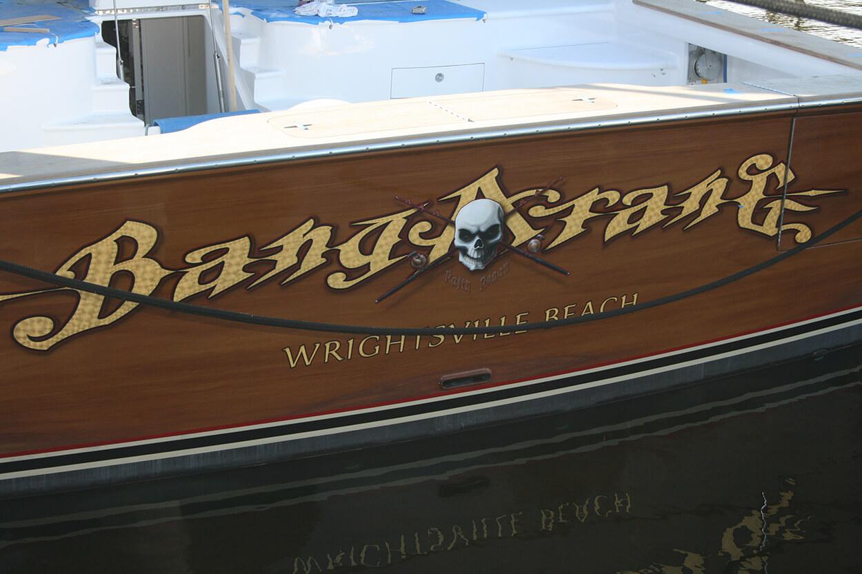 Bangarang Ft Lauderdale Florida Boat Transom