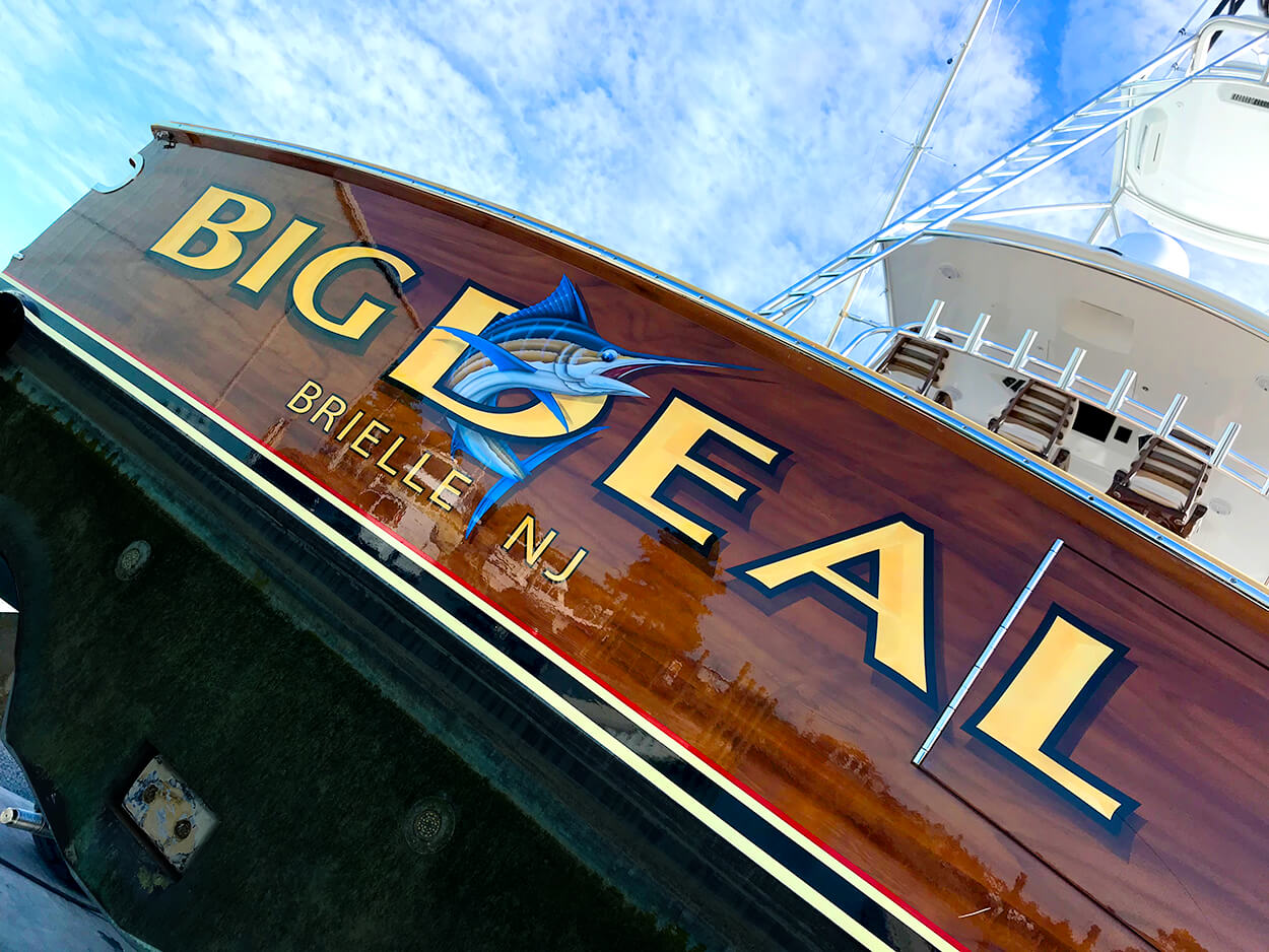 Big Deal Brielle New Jersey Boat Transom