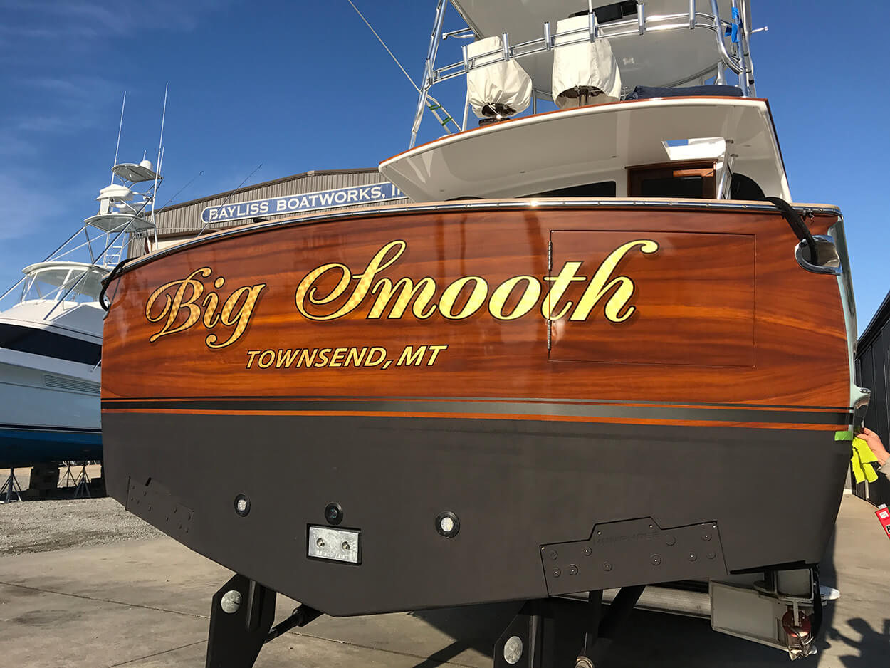 Big Smooth Townsend Montana Boat Transom