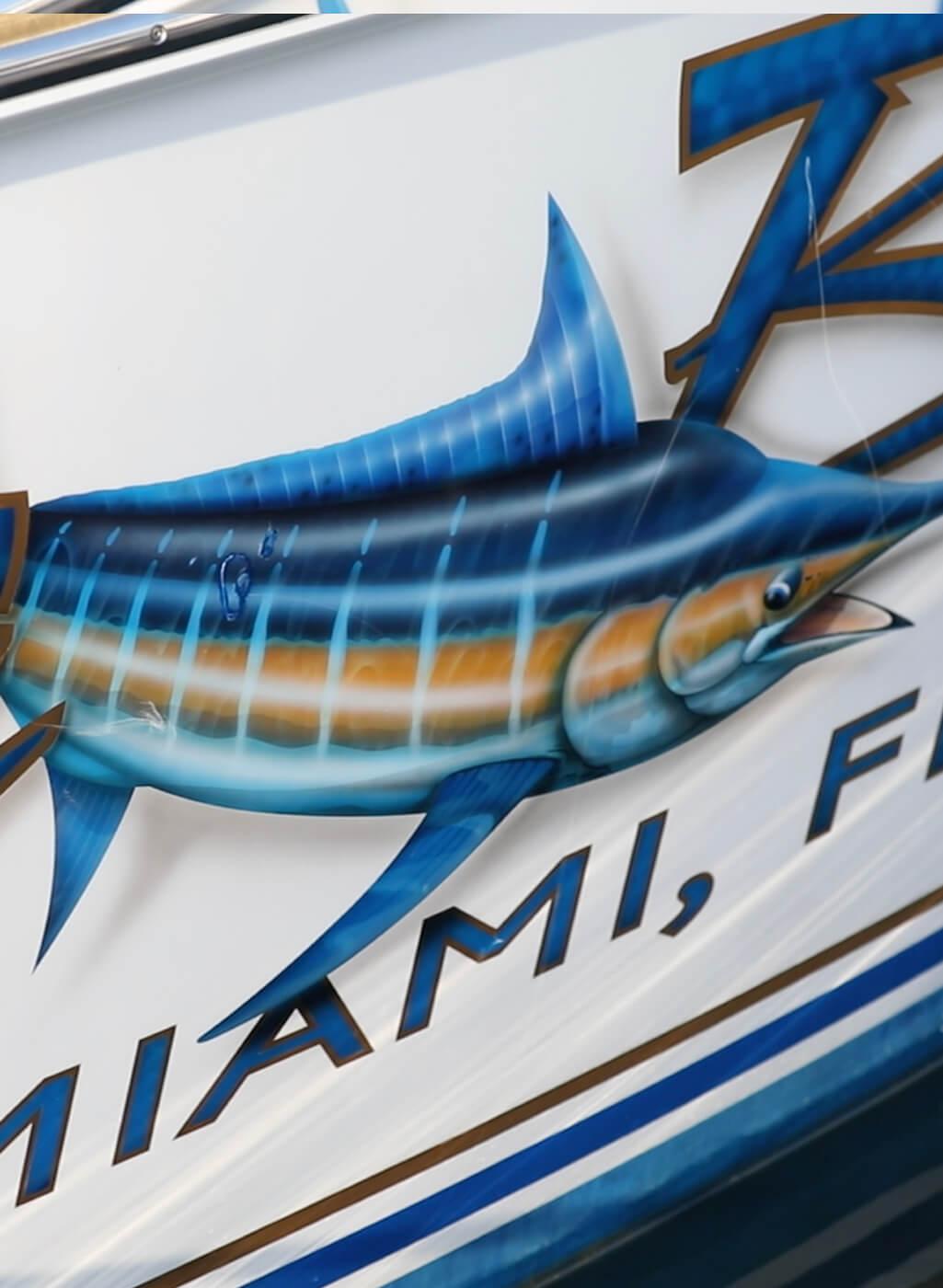 Da Bait Miami Florida Boat Transom