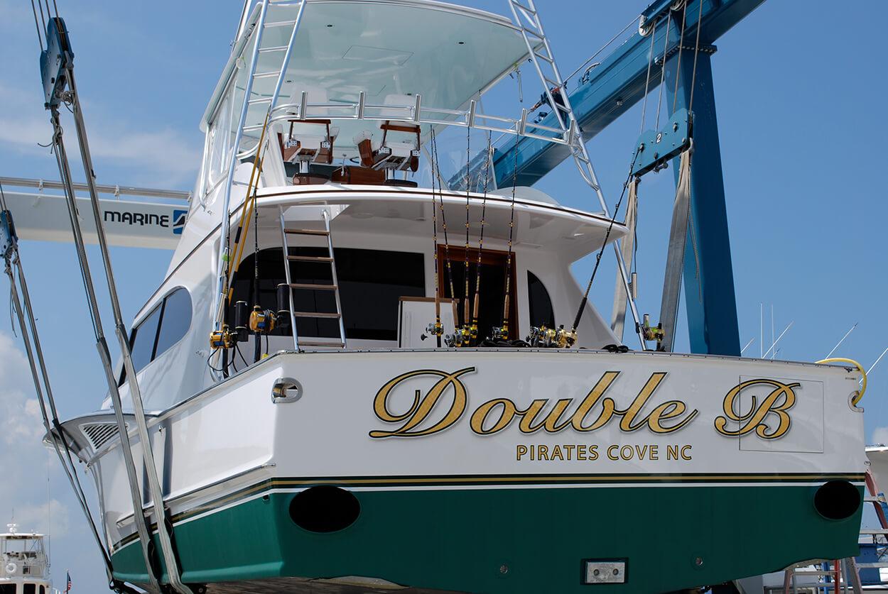 Double B Pirates Cove North Carolina Boat Transom