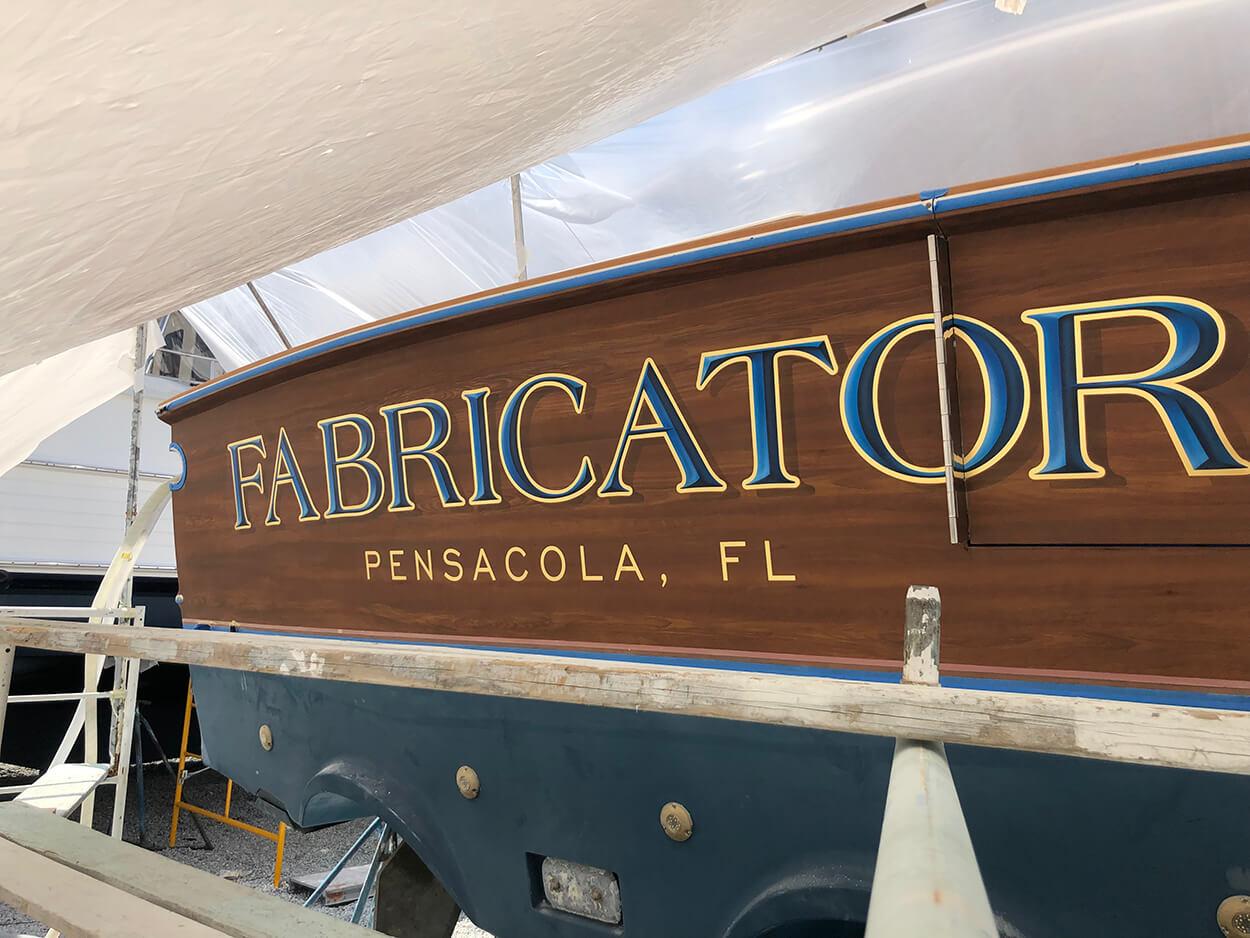 Fabricator Pensacola Florida Boat Transom