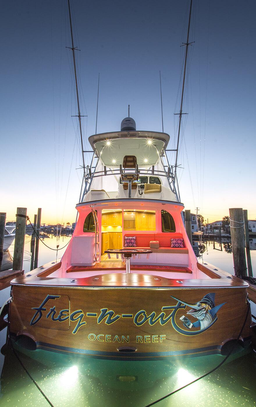 Freq n out Ocean Reef Boat Transom