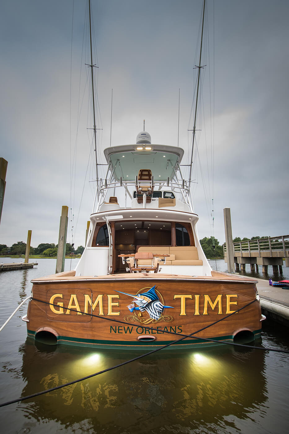 Game Time New Orleans Louisiana Boat Transom