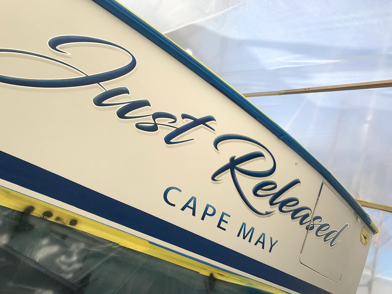 Just Released Cape May New Jersey Boat Transom