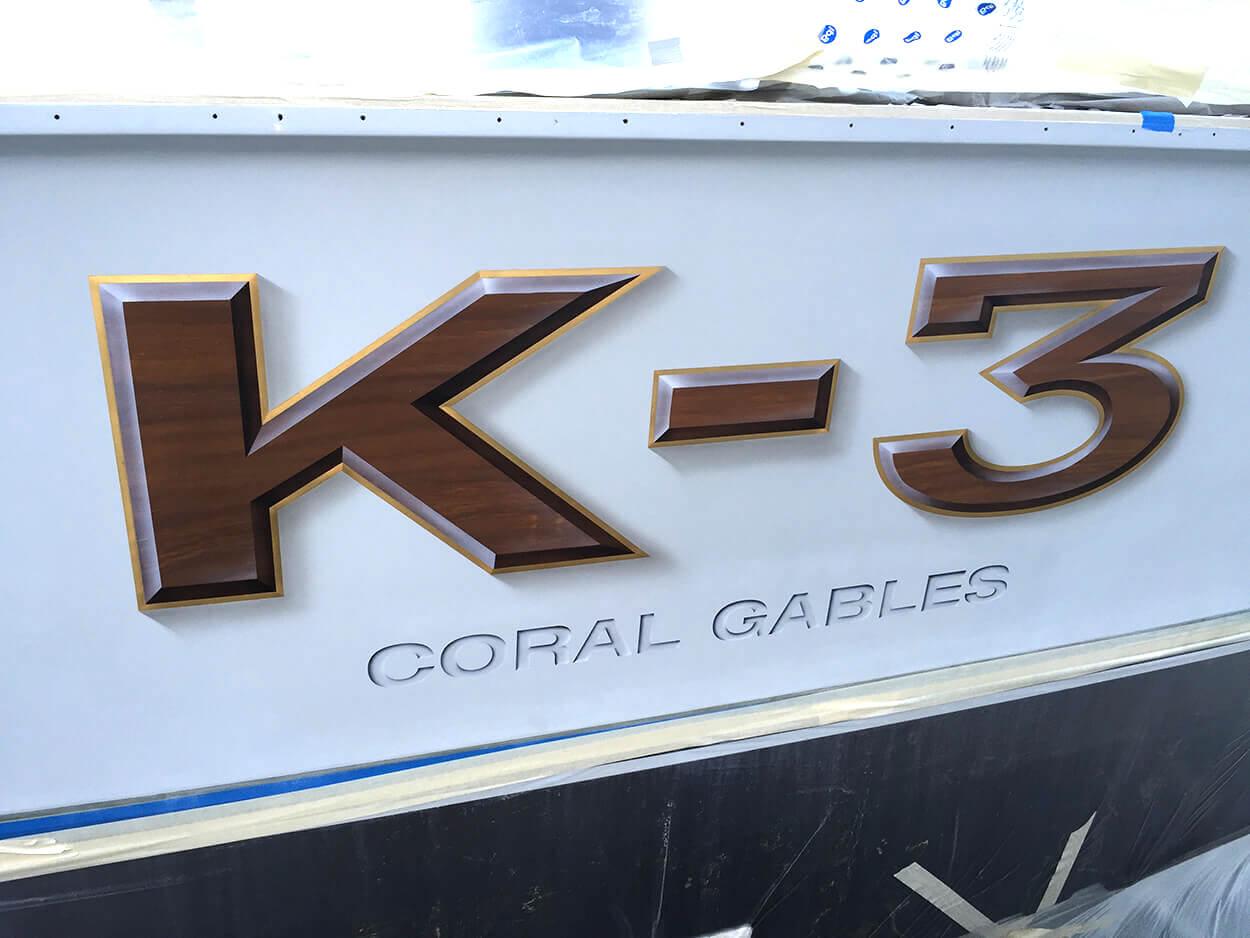 K3 Coral Gables Florida Boat Transom