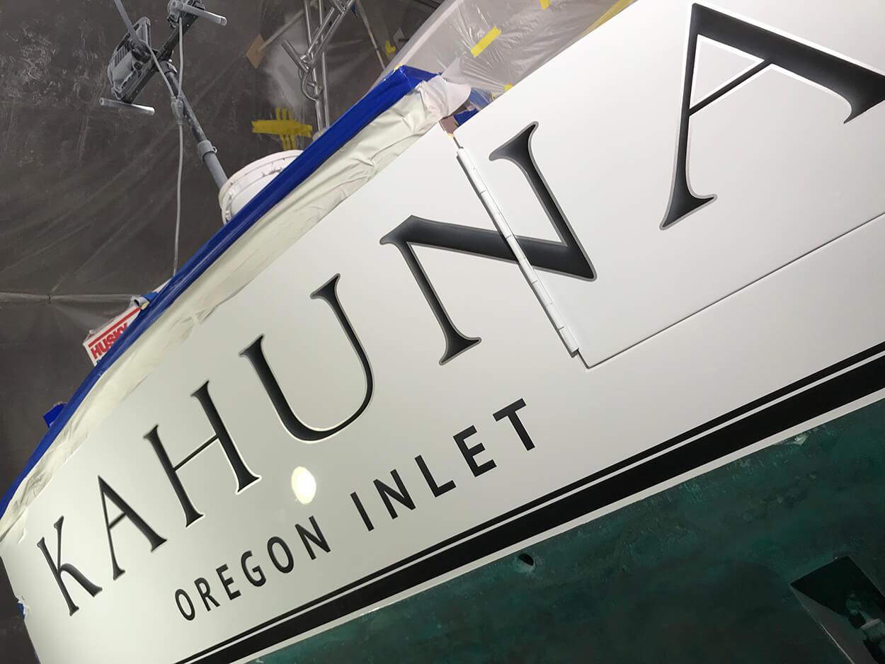 Kahuna Oregon Inlet North Carolina Boat Transom