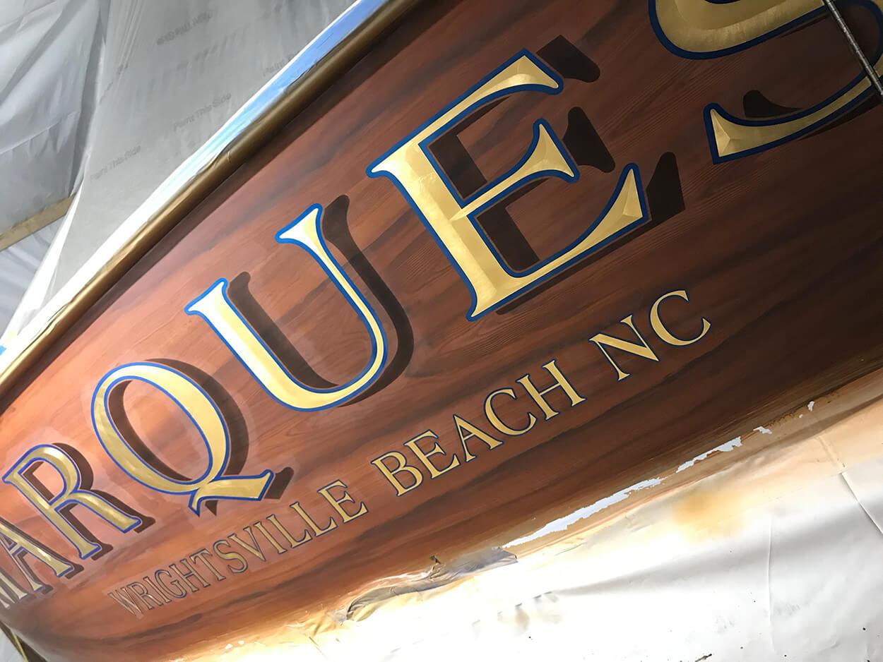 Marquesa Wrightsville Beach North Carolina Boat Transom