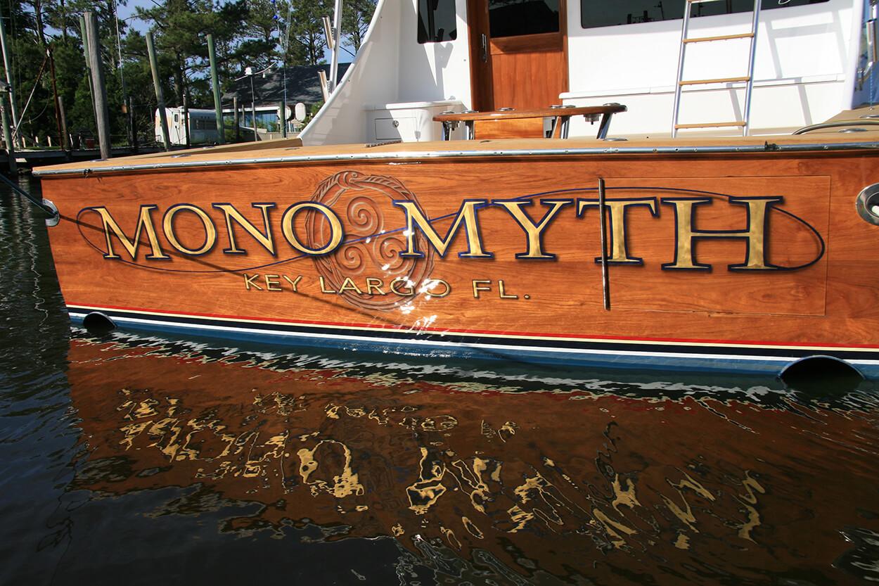 Mono Myth Key Largo Florida Boat Transom