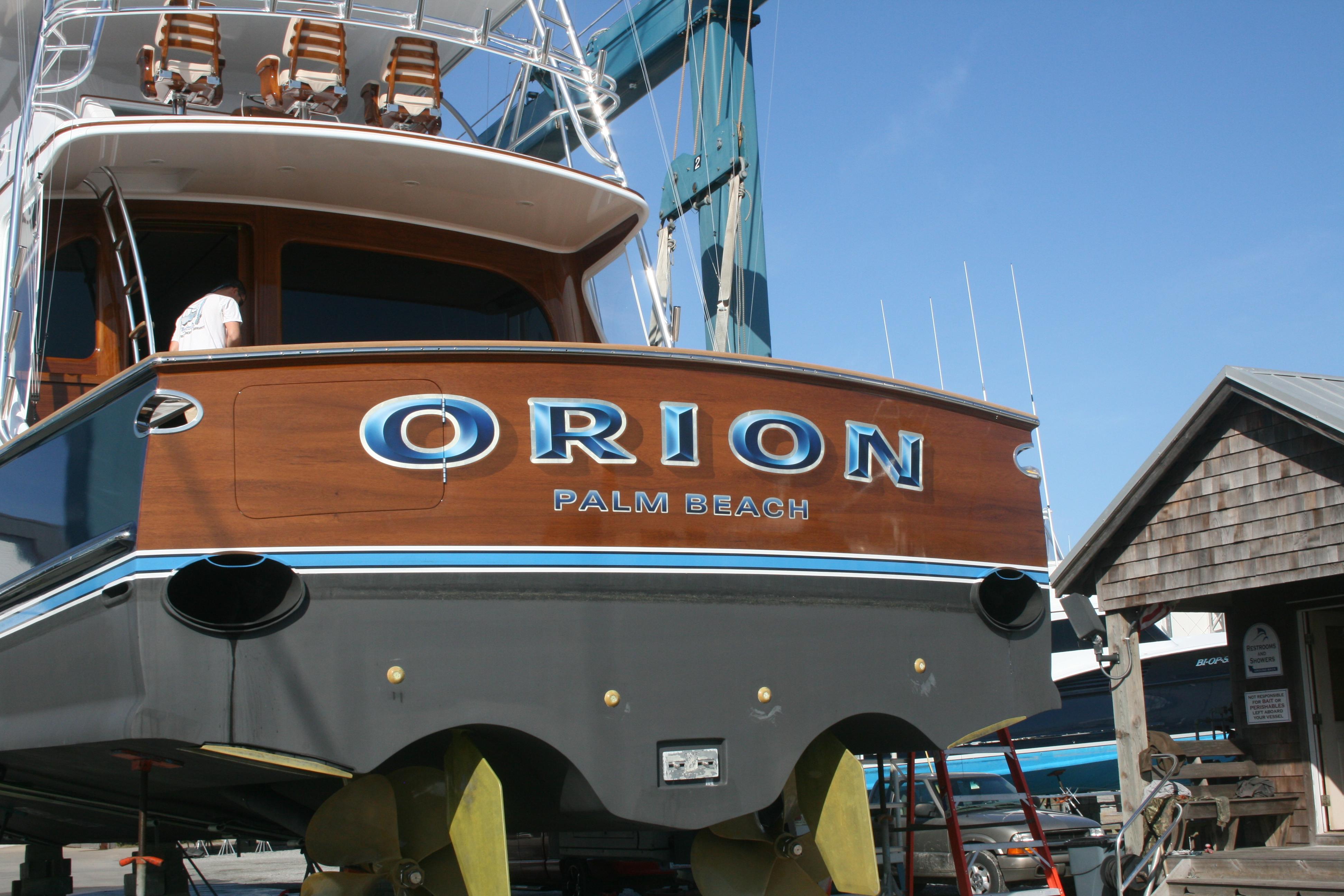 Orion Palm Beach Florida Boat Transom