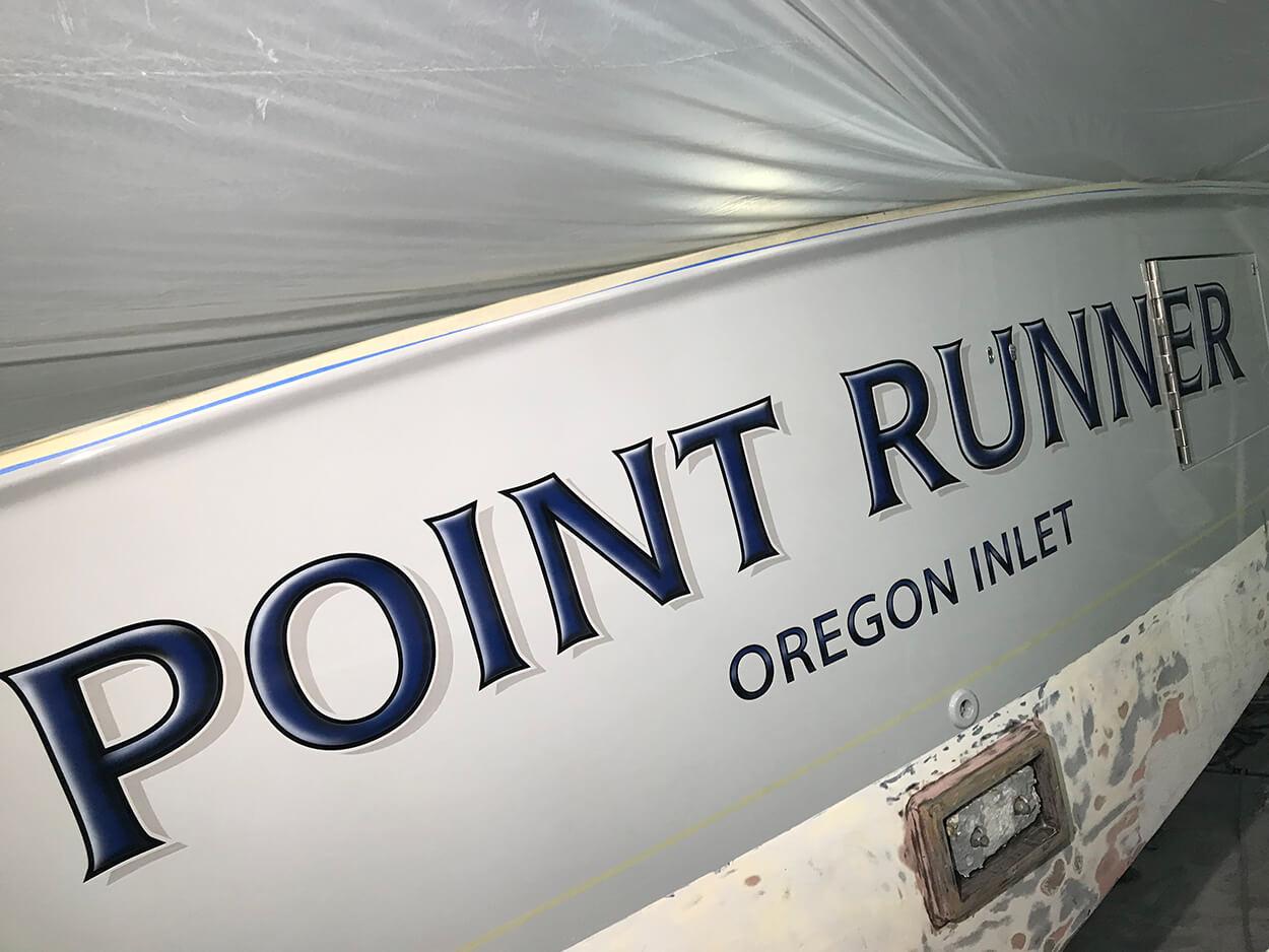 Point Runner Oregon Inlet North Carolina Boat Transom