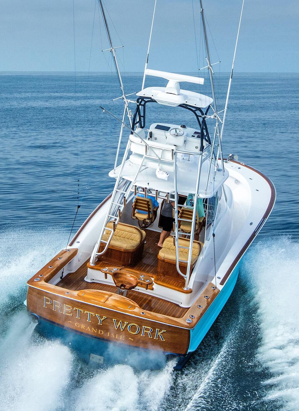 Pretty Work Grand Isle Boat Transom