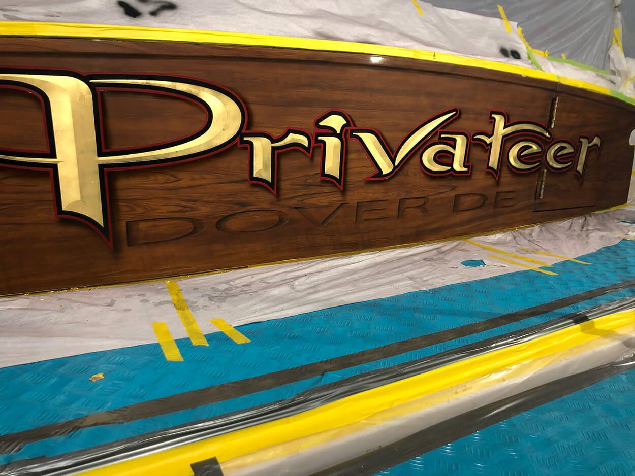 Privateer Dover Delaware Boat Transom