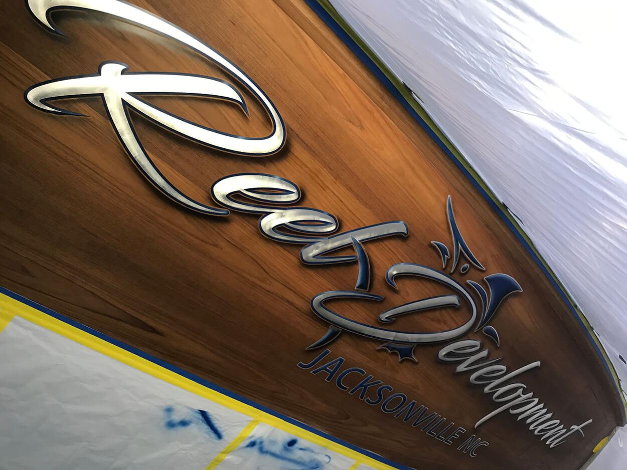 Reel Development Jacksonville North Carolina Boat Transom