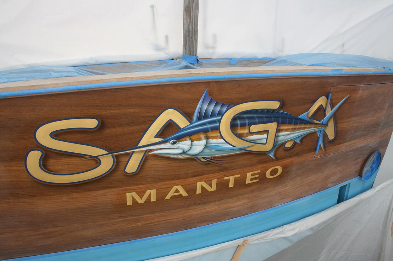 SAGA Manteo North Carolina Boat Transom