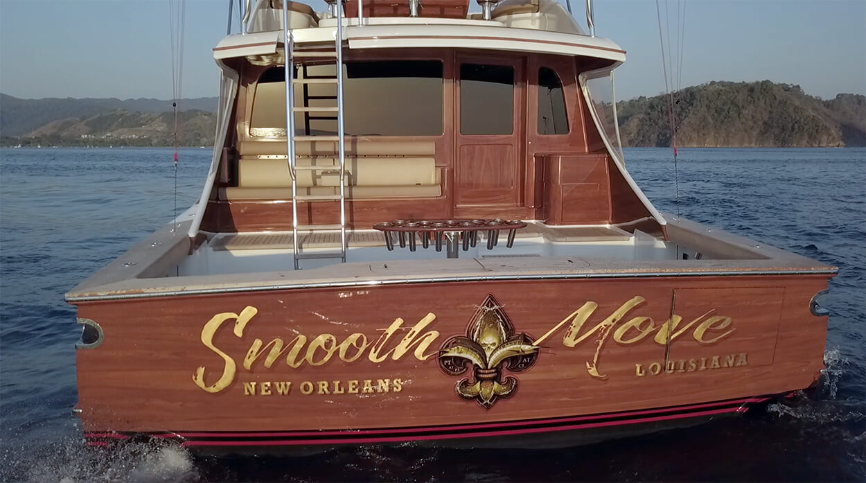 Smooth Move New Orleans Louisiana Boat Transom