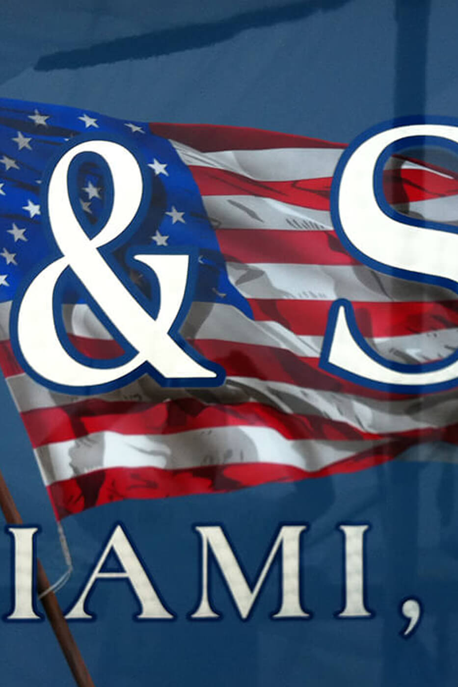 Stars and Stripes Miami Florida Boat Transom