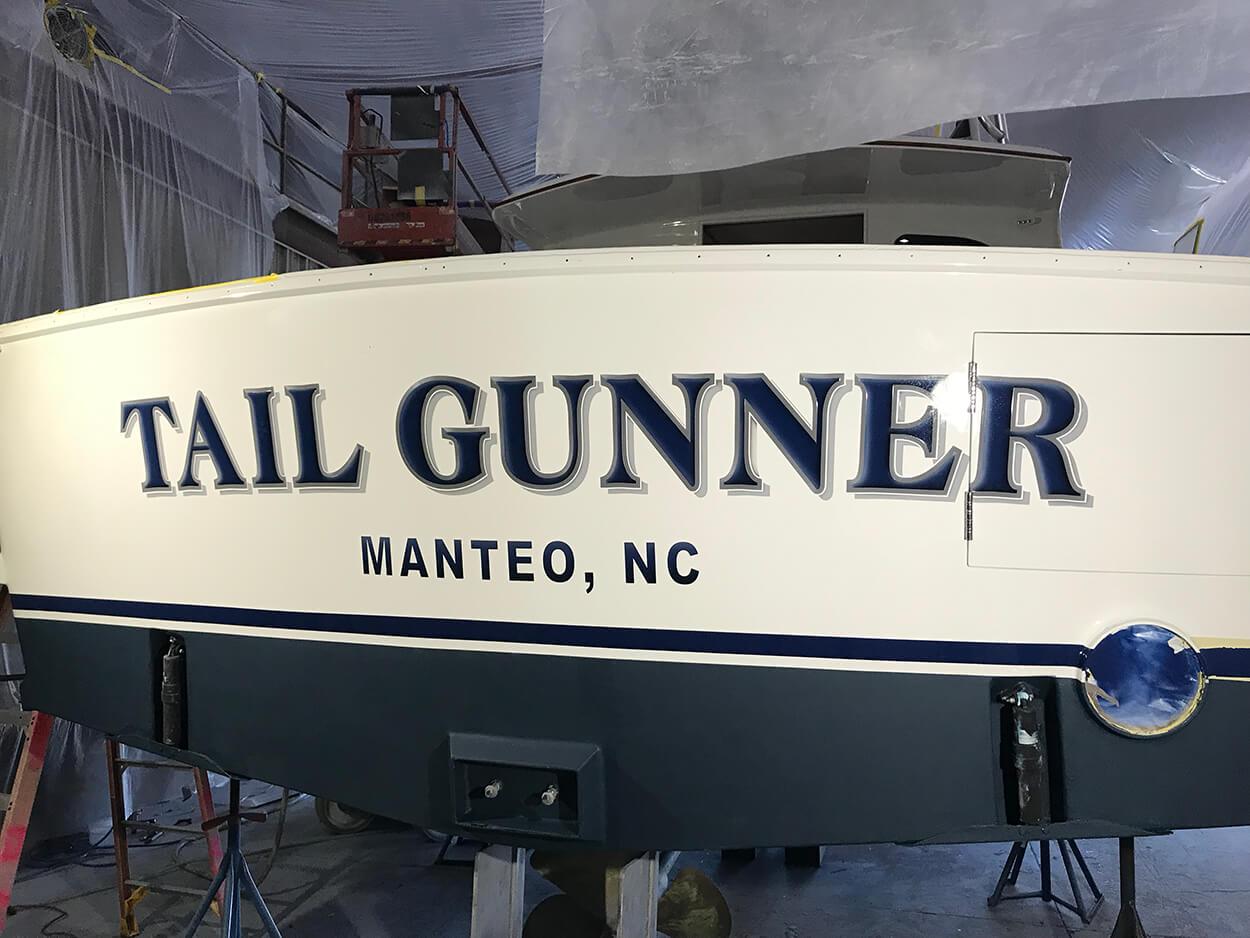 Tail Gunner Manteo North Carolina Boat Transom