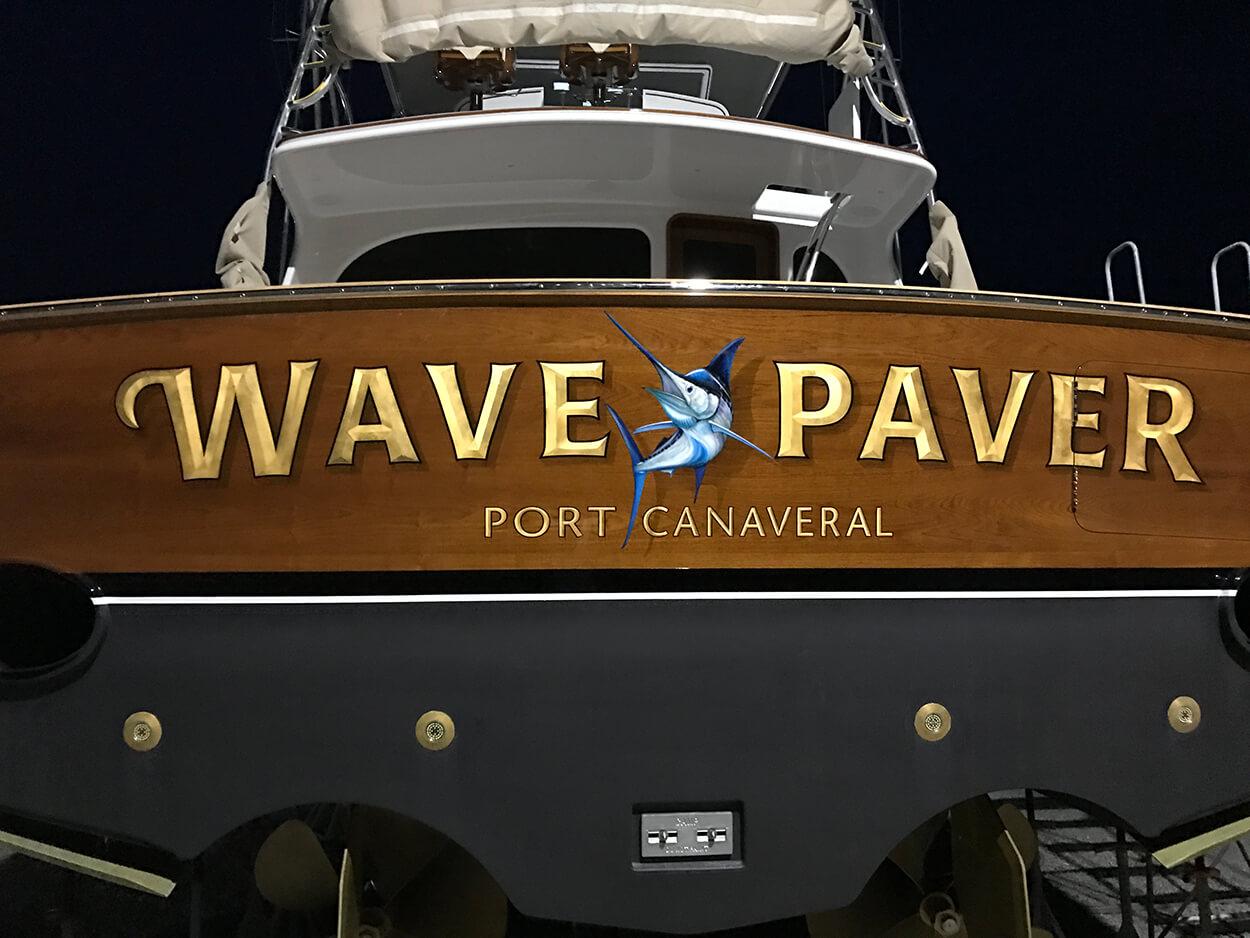 Wave Paver Port Canaveral Florida Boat Transom