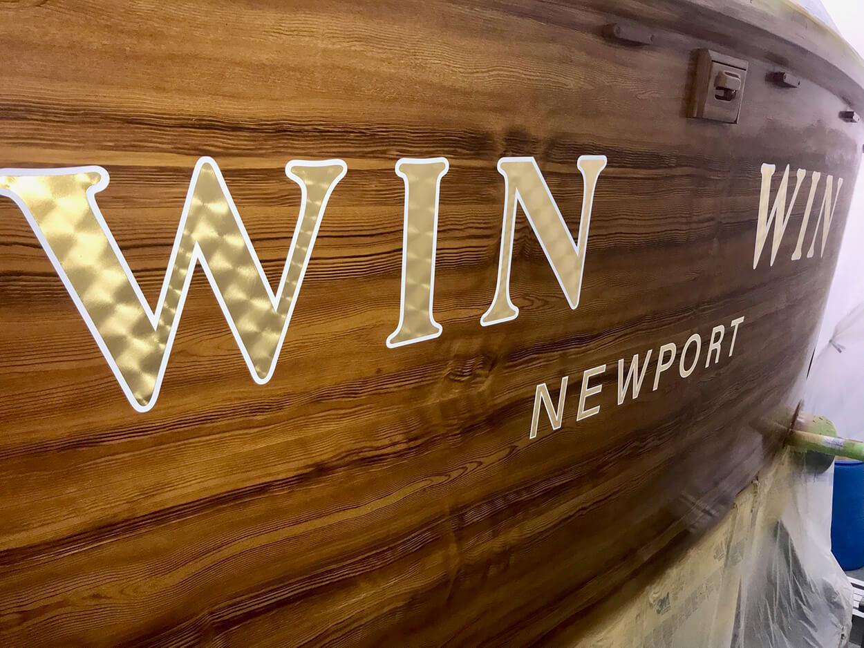 Win Win Newport Rhode Island Boat Transom
