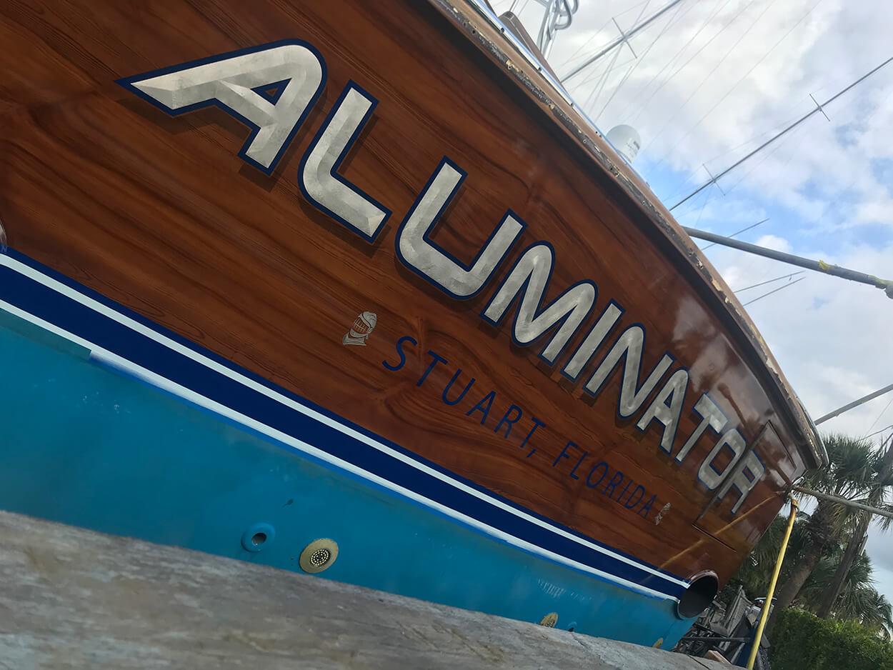 Aluminator Stuart Florida Boat Transom