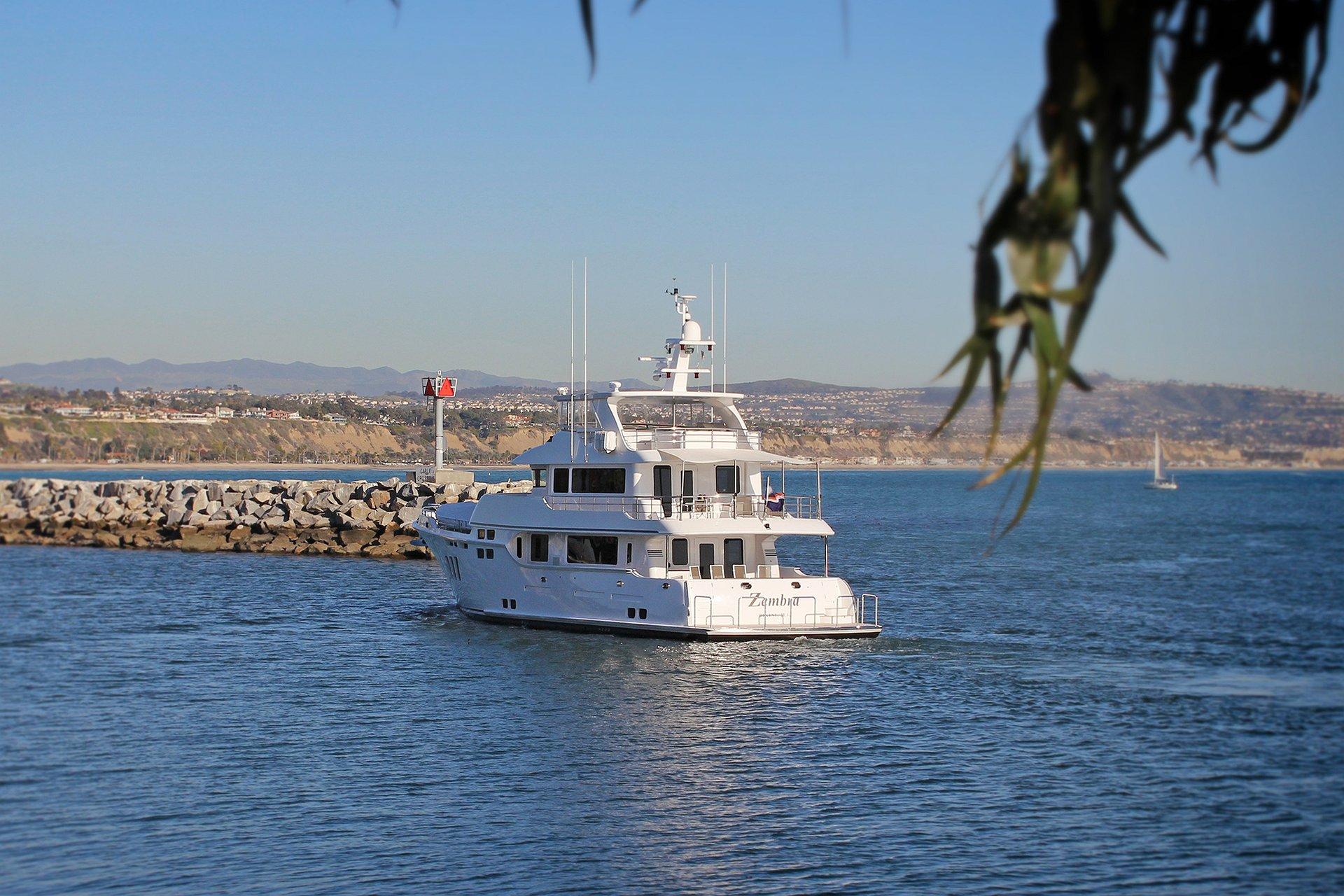Nordhavn Tugg 'Zembra' / Dana Point California Boat Transom Lettering